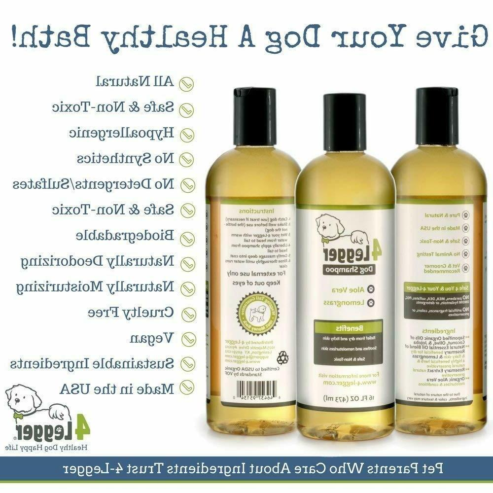 4Legger Certified Organic Dog Shampoo and Hypoallergenic with