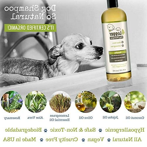 4-Legger Organic Shampoo - and with and Soothing Normal, Dry, Itchy or Biodegradable - Made USA