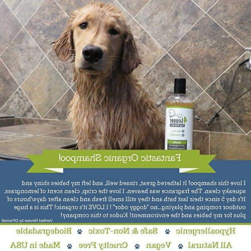 4-Legger Certified Shampoo - All and Hypoallergenic with and Lemongrass, Soothing Normal, Itchy or Allergy Sensitive Biodegradable Made
