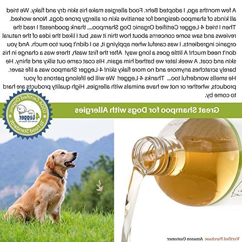 4-Legger Shampoo - and Hypoallergenic with and Lemongrass, Soothing for Normal, Dry, Itchy or Allergy Biodegradable - Made USA -