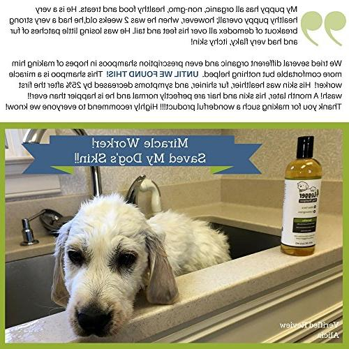 4-Legger Certified Dog Shampoo - and and Soothing for Normal, Dry, Itchy Allergy Skin - Biodegradable Made in USA 16 oz