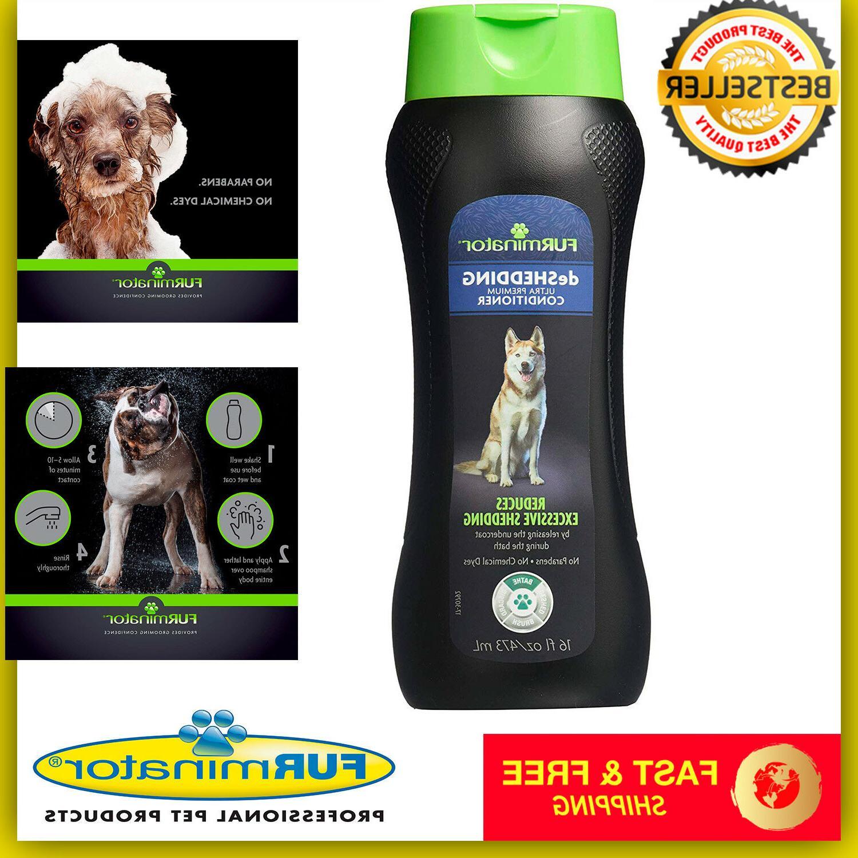 deshedding ultra premium dog conditioner 16 ounce