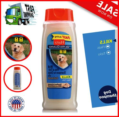 Dog Medicated Shampoo Flea Tick Dogs Oatmeal Soothing Relief