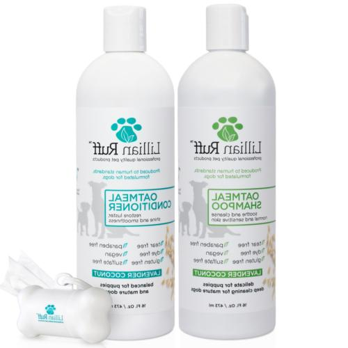 dog oatmeal shampoo conditioner set