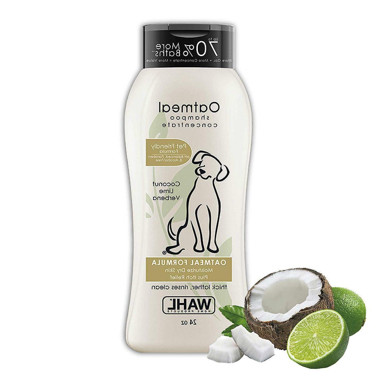 dog puppy shampoo oatmeal formula moisturizer itch