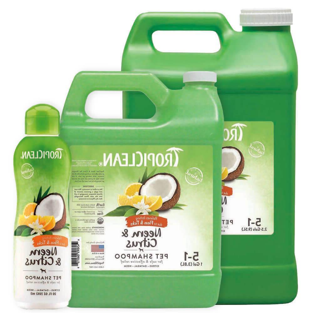 dog shampoo citrus neem flea and tick