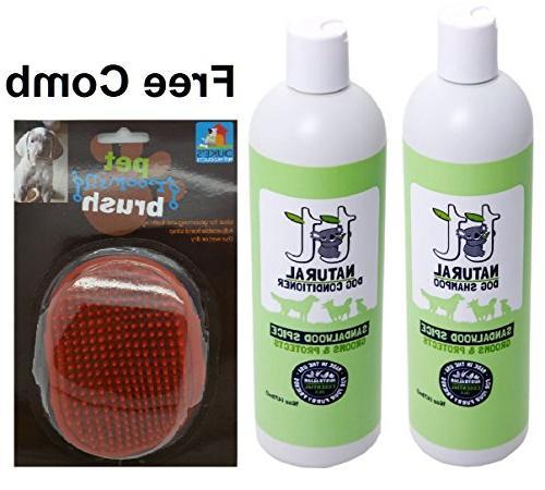 dog shampoo conditioner plus gift