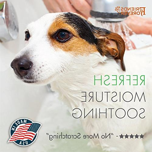Friends Dog Shampoo for Dry Skin Aloe Vera Pet Shampoo for Dog Wash Tea Tree Oil