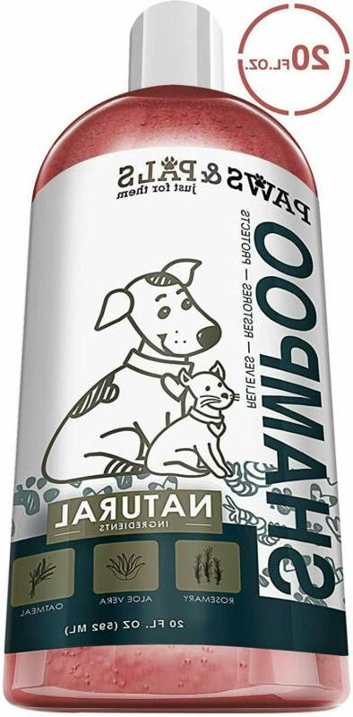 Dog Shampoo For Dry Itchy Skin - Smelly Dogs Shampoo Cats Oa