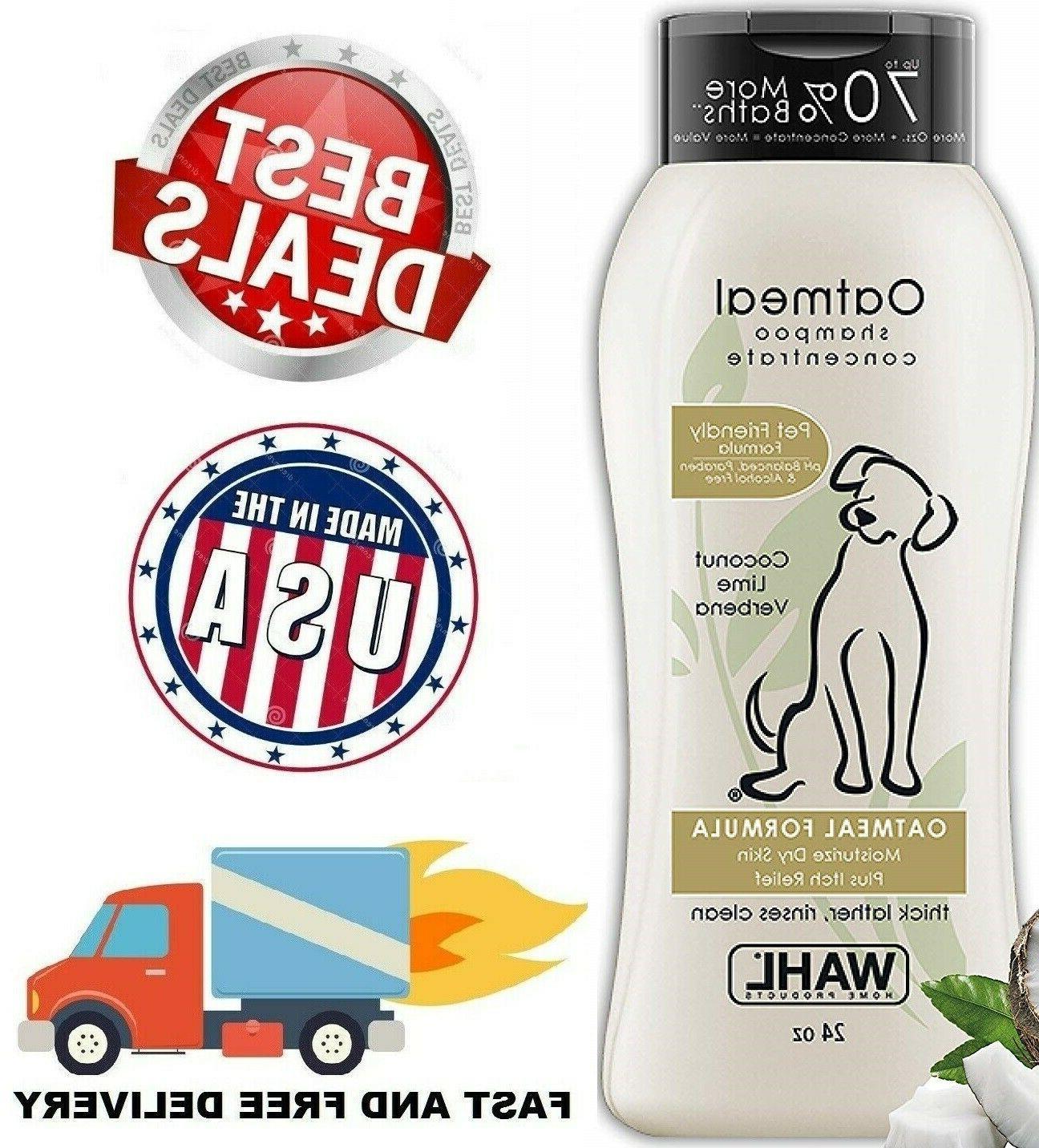 dog shampoo pet dry itching irritated skin