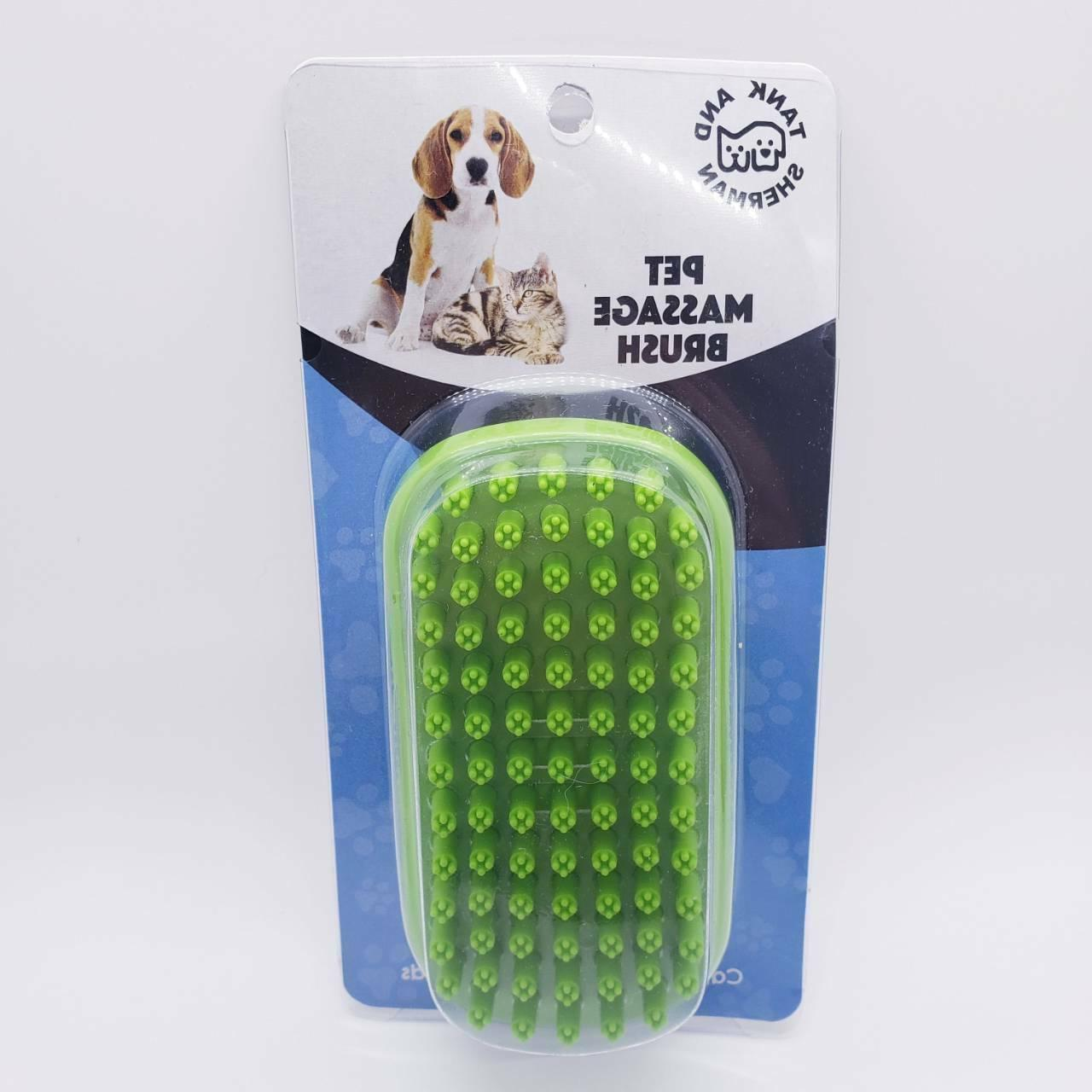 dog shampoo rubber brush easy to clean