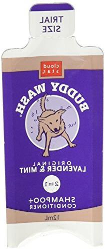 Cloud Star Dog Supplies Buddy Wash Samples Lavender/Mint