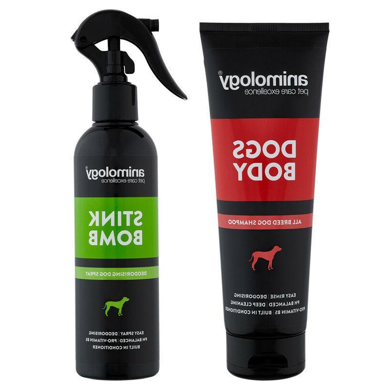 dogs body dog shampoo and stink bomb