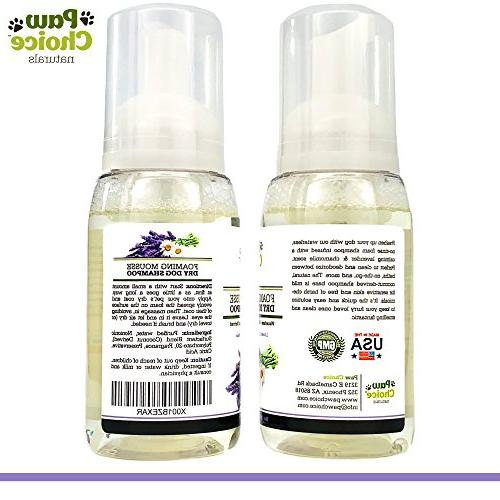 Paw Dog Foam for and Bathless & Chamomile Natural, Made USA