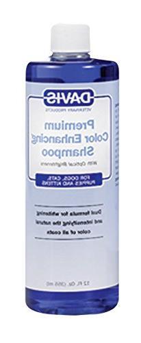 Davis Premium Color Enhancing  Whitening Cat Dog Pet Shampoo