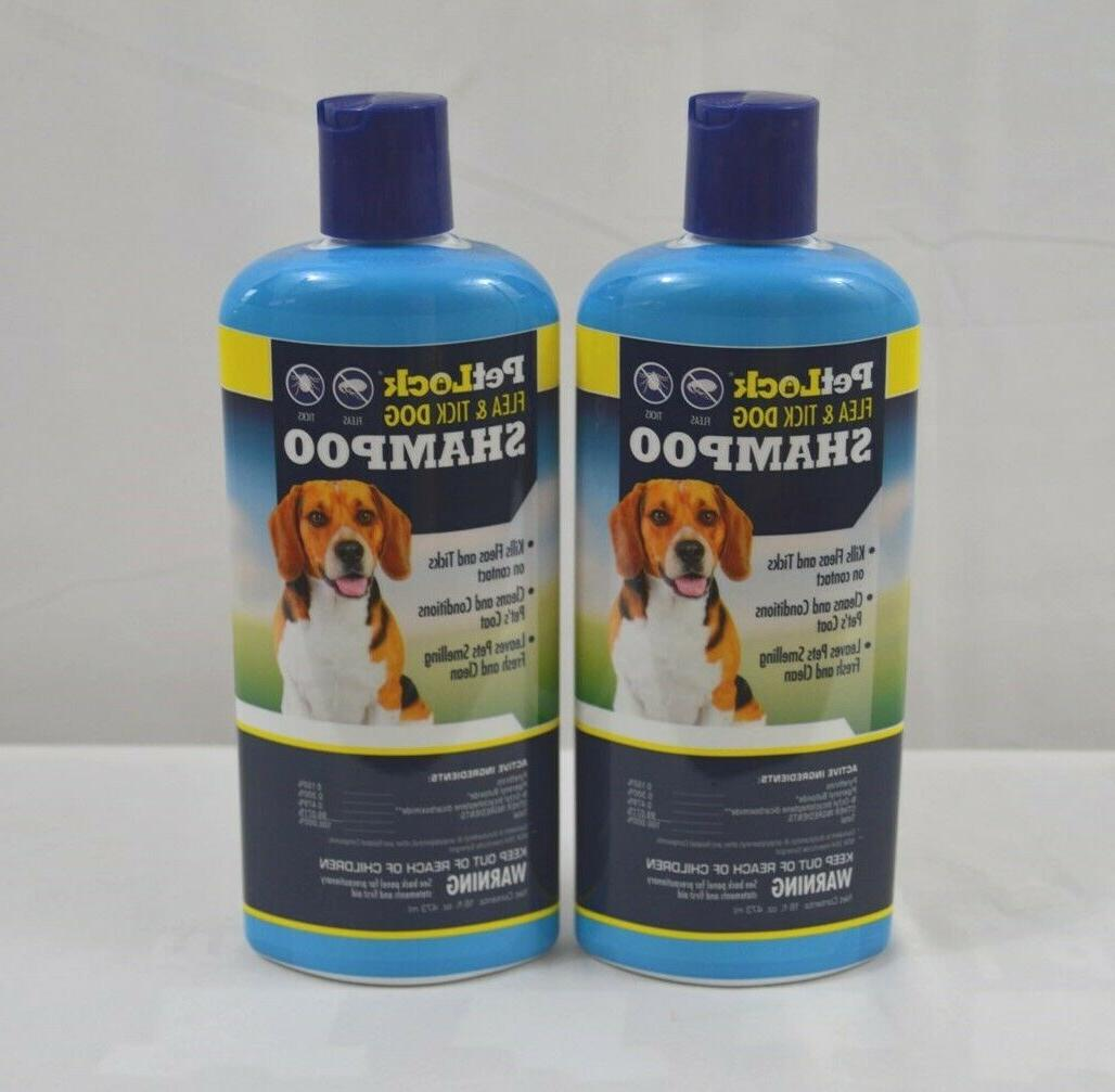 flea and tick dog shampoo 2 pack