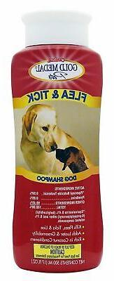 Gold Medal Pets Flea & Tick Shampoo for Dogs, 17 oz.