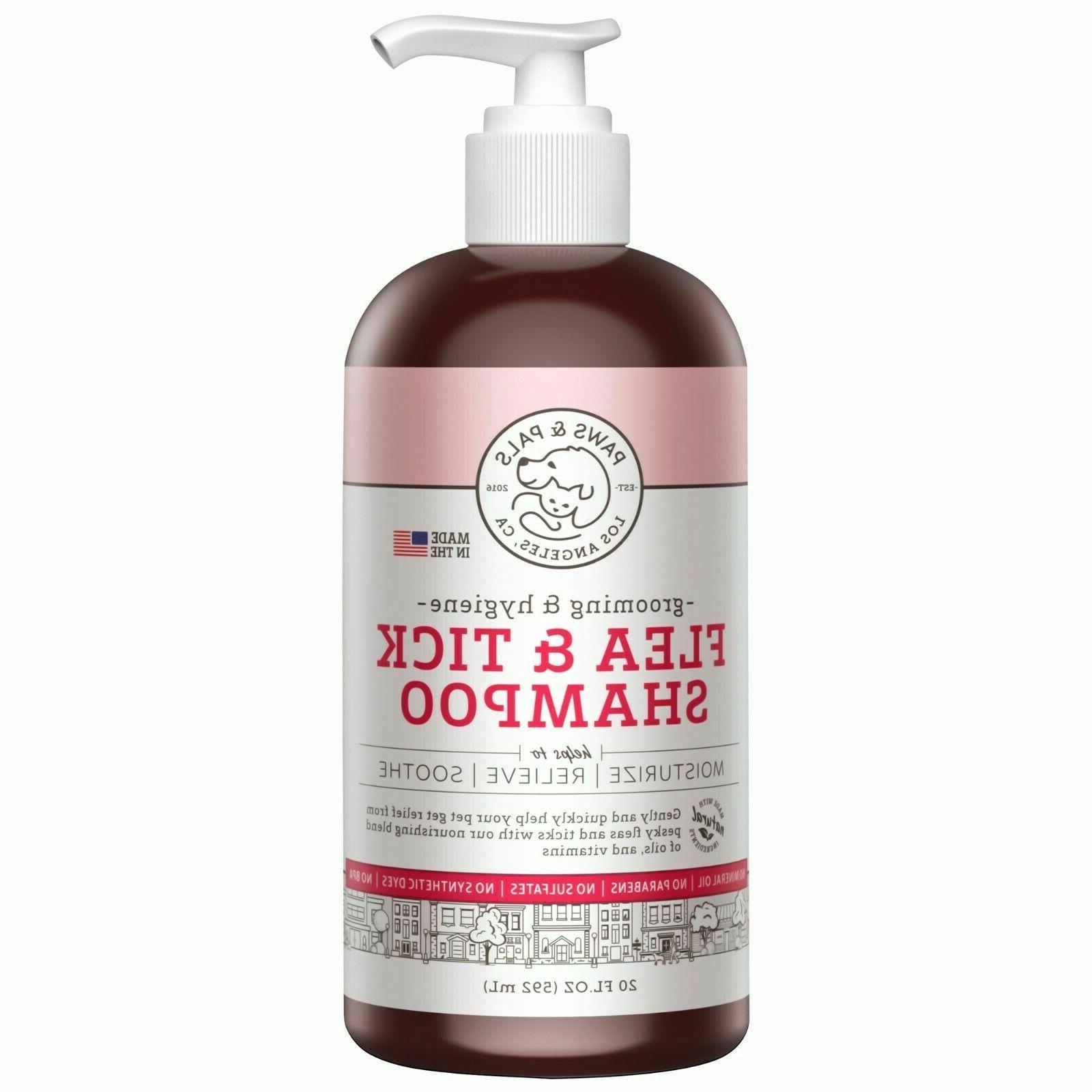 Flea and Tick Shampoo for Dogs Cats Conditioner  Scrub Clean