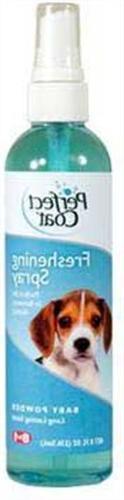 Perfect Coat Freshening Spray, Baby Powder Scent, 8-Ounce