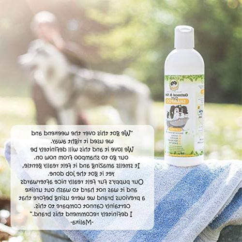 Natural Hypoallergenic Oatmeal Dog Shampoo: Itchy Large & Small Breed Adult - Aloe Pet Formula Cruelty