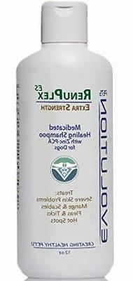 Medicated Dog Mange Shampoo. Antifungal RenuPlex Extra Stren