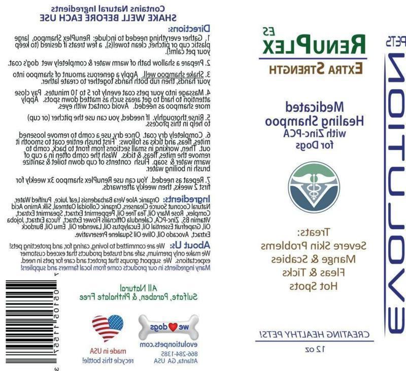 Medicated Dog Antifungal Renuplex Mange Shampoo Fo