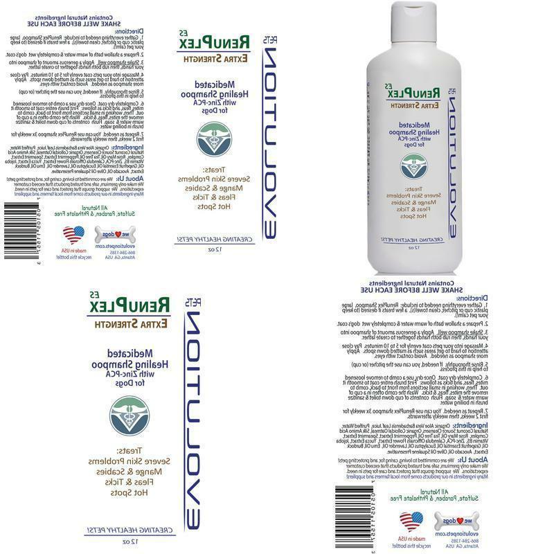 medicated dog mange shampoo antifungal renuplex extra