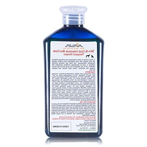 Arava Shampoo Antibacterial Anti Yeast Anti Itch Dog Skin First in Hot Spots Ringworm Scrapes Abrasions &