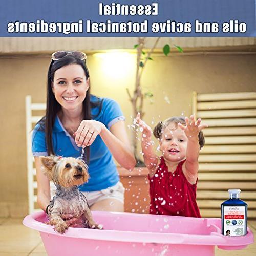 Arava Natural Medicated Dog Shampoo – Antifungal Anti Skin & Coat First Aid in Spots Ringworm Abrasions &