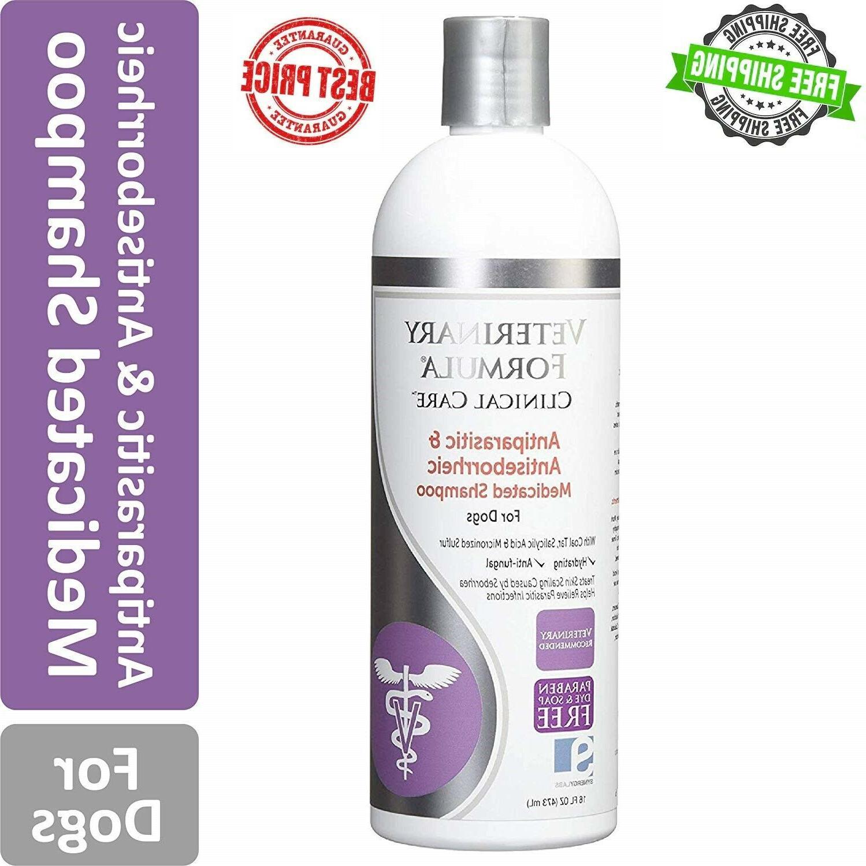 medicated dog shampoo pet allergies anti parasite