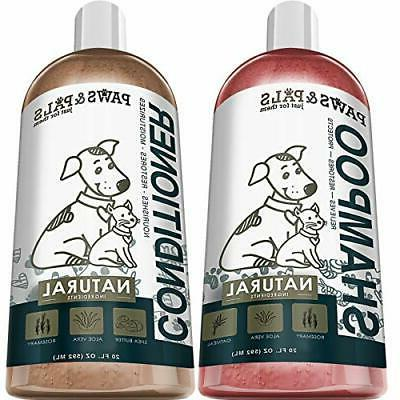 natural oatmeal dog shampoo and conditioner combo
