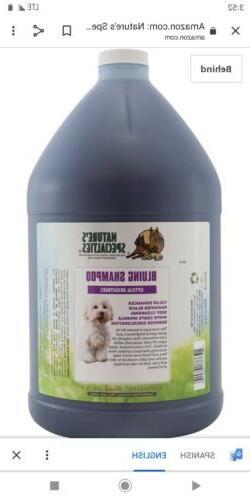Nature's Specialties Brightening Dog Shampoo Made in USA Blu