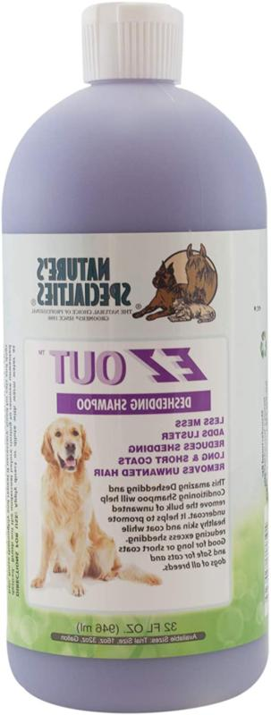 Nature's Specialties EZ Out Deshedding Shampoo for Dogs Cats