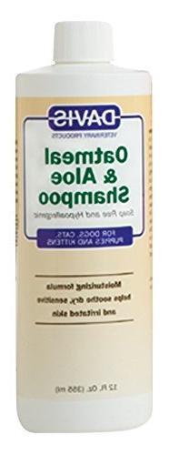 Davis Oatmeal and Aloe Dog and Cat Shampoo, 12-Ounce by Davi