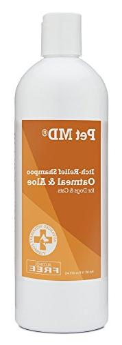 Pet MD  Oatmeal Dog Shampoo with Aloe Vera and Coconut Oil,