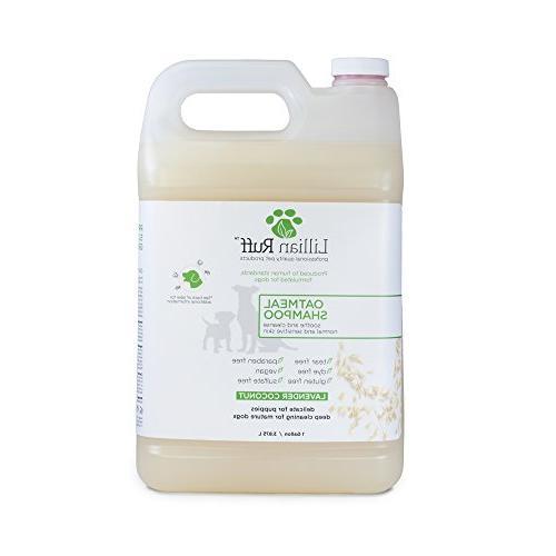 oatmeal dog shampoo coconut scent
