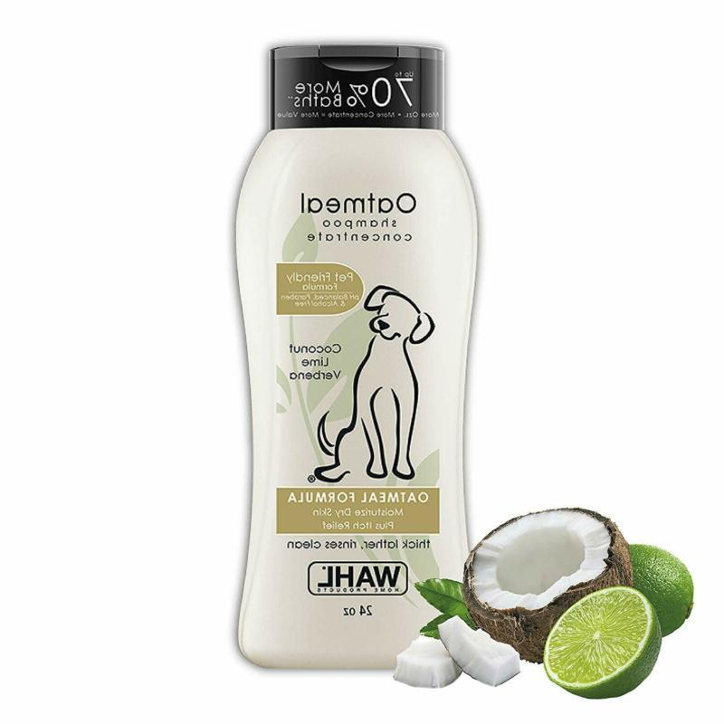 Wahl Dog/Pet Coconut & Lime Verbena Oatmeal Shampoo For All