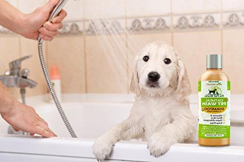 Pro Pet All Natural Oatmeal + Conditioner for Dogs, Cats and Free Blend with Aloe Allergies &