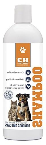 H3 Essentials Oatmeal Shampoo for Dogs - Pet Skin Itch Relie