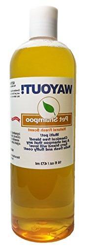 Wayout! All Natural Organic 4 leg Dog Shampoo for Sensitive