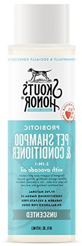 SKOUT'S HONOR Probiotic Pet Shampoo & Conditioner  - 16 fl.