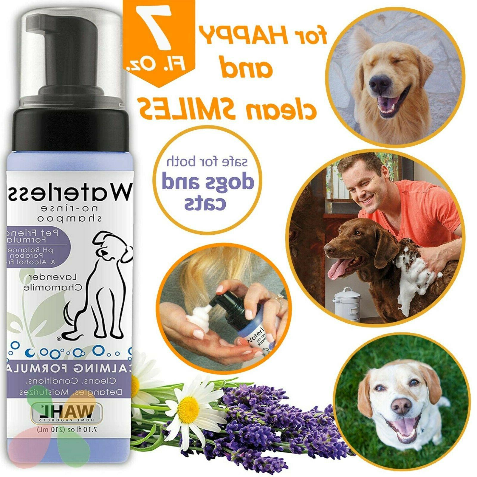 pet waterless no rinse shampoo for dogs