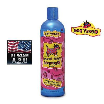 CRAZY DOG PET SHAMPOO*Tearless*DE-TANGLES*Vitamin Enriched