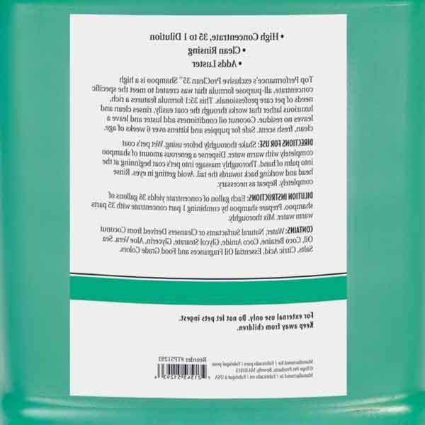 Pro Shampoo Concentrate Size
