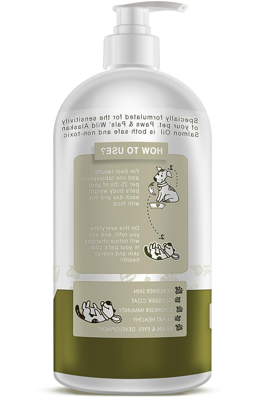 Pure Alaskan Salmon Oil for Dog Omega 3 Natural Diet