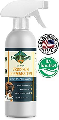 No-Rinse Dry Dog Shampoo for Dogs, Puppies, Other Pets  Natu