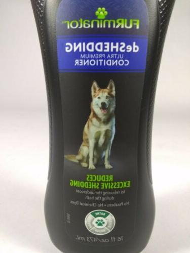 SET: Dog DeShedding Shampoo 16 Fl. Oz. Made U.S.A.
