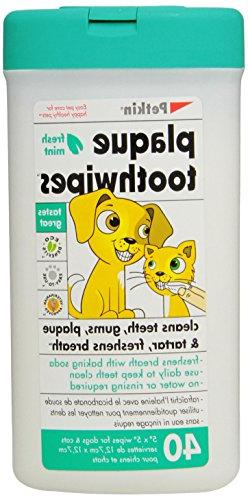 Petkin Toothwipes, Fresh Mint, 40-Count