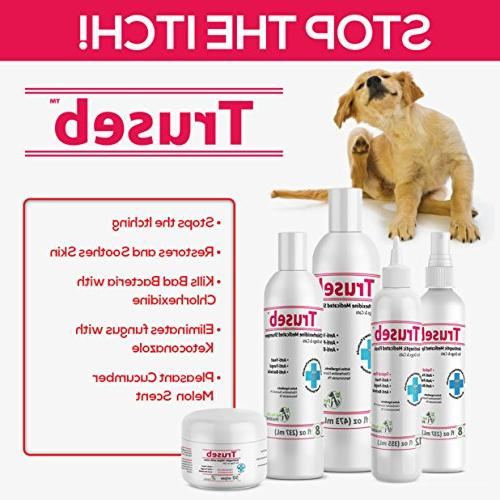 Truseb & Chlorhexidine Dogs & Cats Antibacterial Dog for Hot Spots, Ringworm, Yeast, Infections, & U.S.A