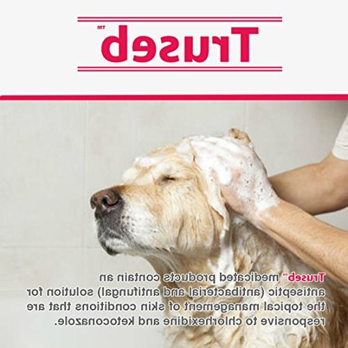 Truseb & Shampoo for Dogs & Cats Antibacterial Antiseptic Dog for Hot Spots, U.S.A